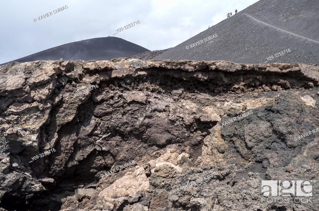 Stock Photo: Mount Etna, Catania, Sicily, Italy.