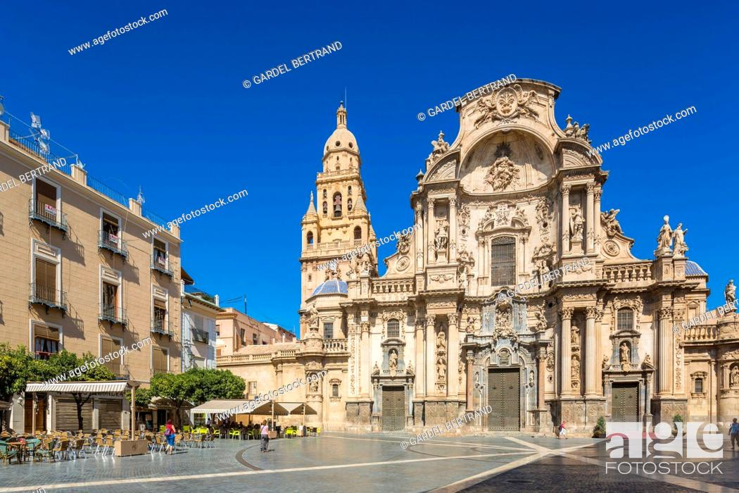 Stock Photo: Spain, Murcia Community, Murcia, facade altarpiece of the cathedral.