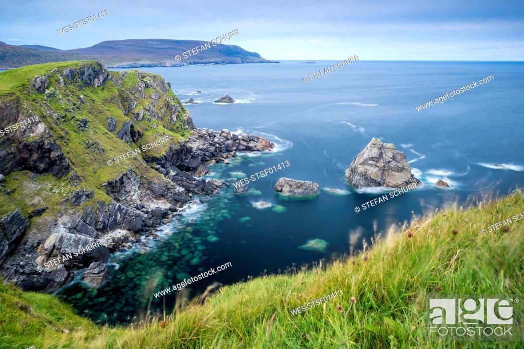 Stock Photo: UK, Scotland, Highland, North Coast 500, Faraid Head near Durness.