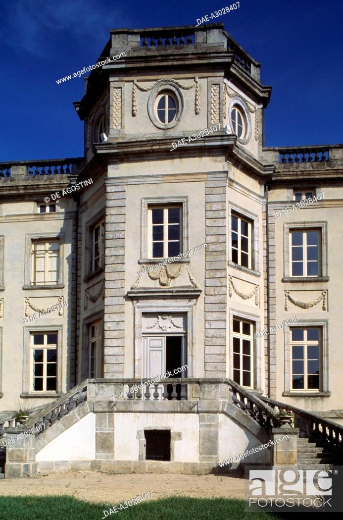 Stock Photo: Chabert castle or Chateau de Boen, 18th century, now the Museum of Forez winemakers, Boen-sur-Lignon, Rhone-Alpes, France.