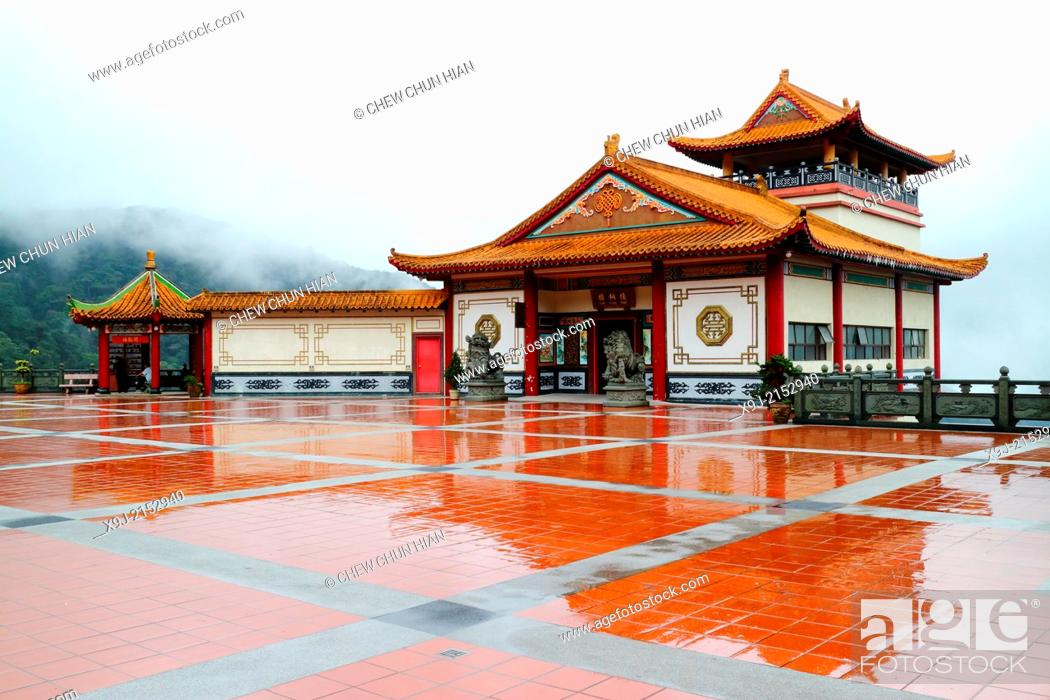 Stock Photo: Genting Highlands, Ching Swee Temple after rain, Malaysia.