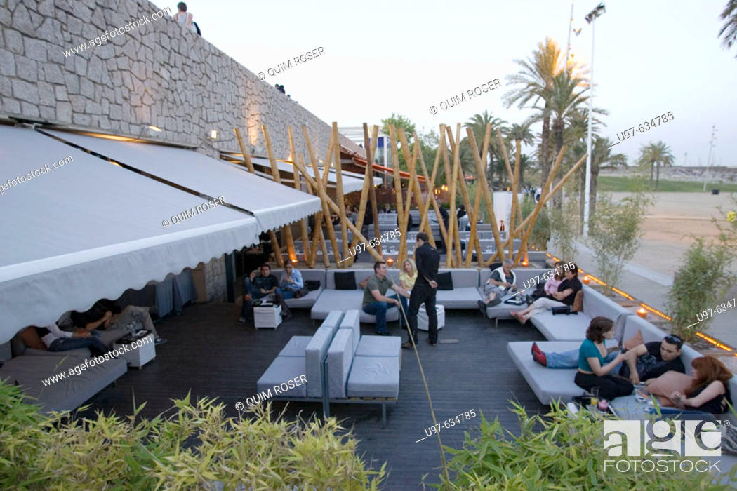 Stock Photo: Shoko Restaurant and Lounge Club, Passeig de la Barceloneta, Barcelona, Spain.