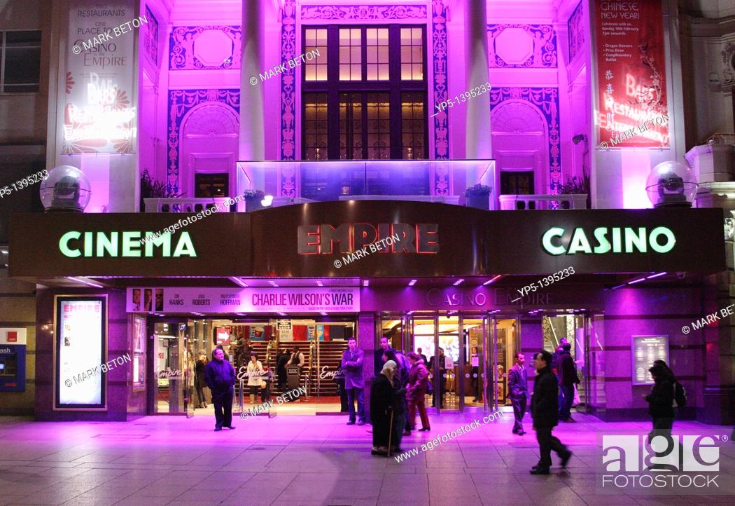 Stock Photo: Empire Leicester Square London at night.