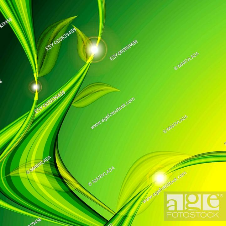 Stock Vector: bright floral vector background.
