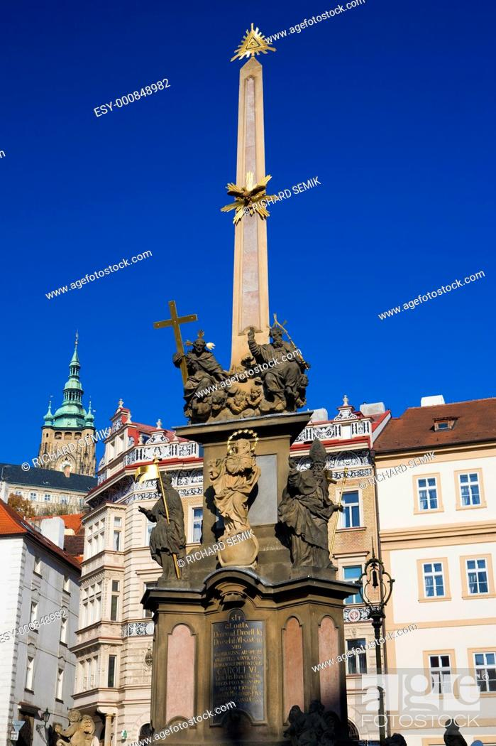 Stock Photo: Malostranske Square, Prague, Czech Republic.