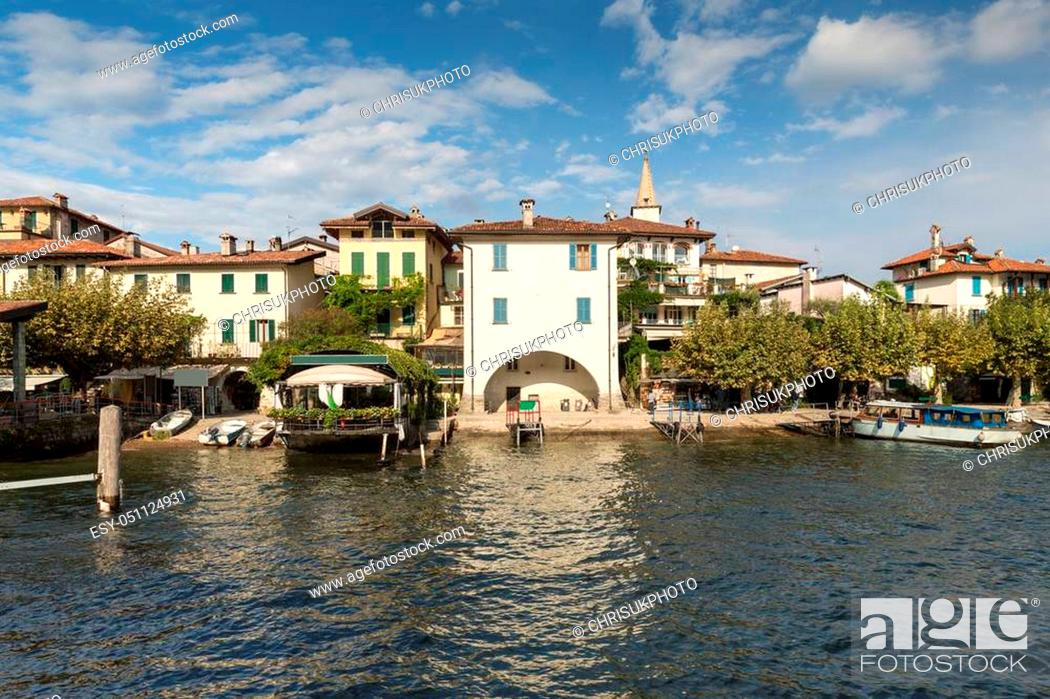 Stock Photo: Isola dei Pescatori on Lake Maggiore near Stresa in Italy has an old fishing community and is still home to around fifty people.