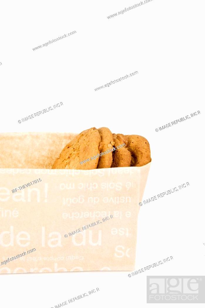 Stock Photo: cookies in paper bag.