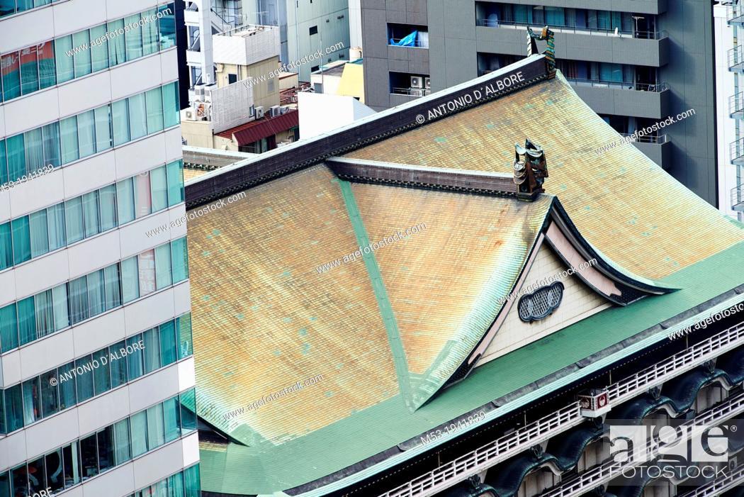 Stock Photo: Japanese style building in Osaka. Japan.