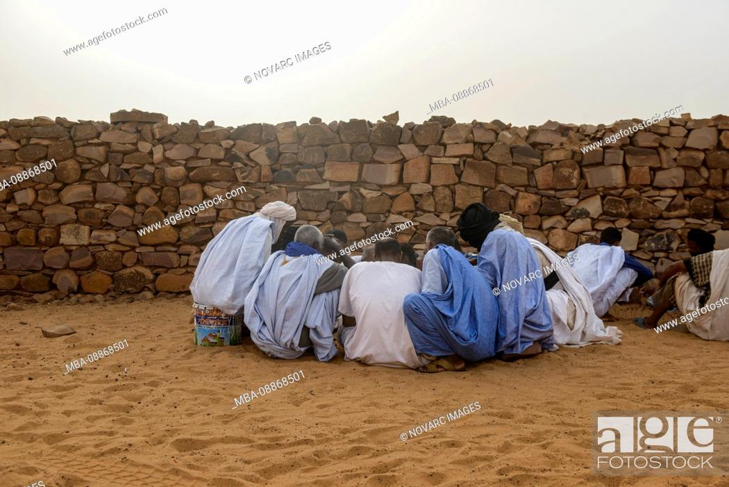 Stock Photo: Village life in Ouadane, Mauritania.