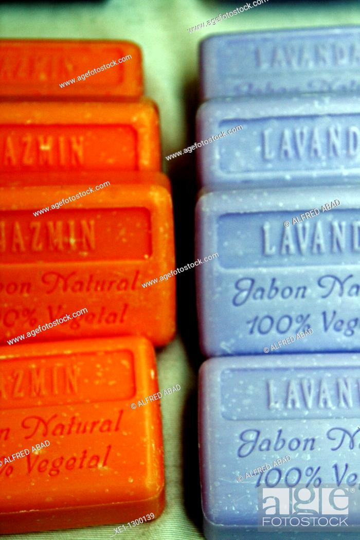 Stock Photo: Natural vegetable soaps.