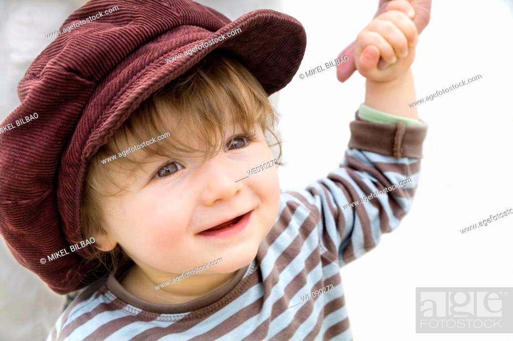 Stock Photo: little child smiling.