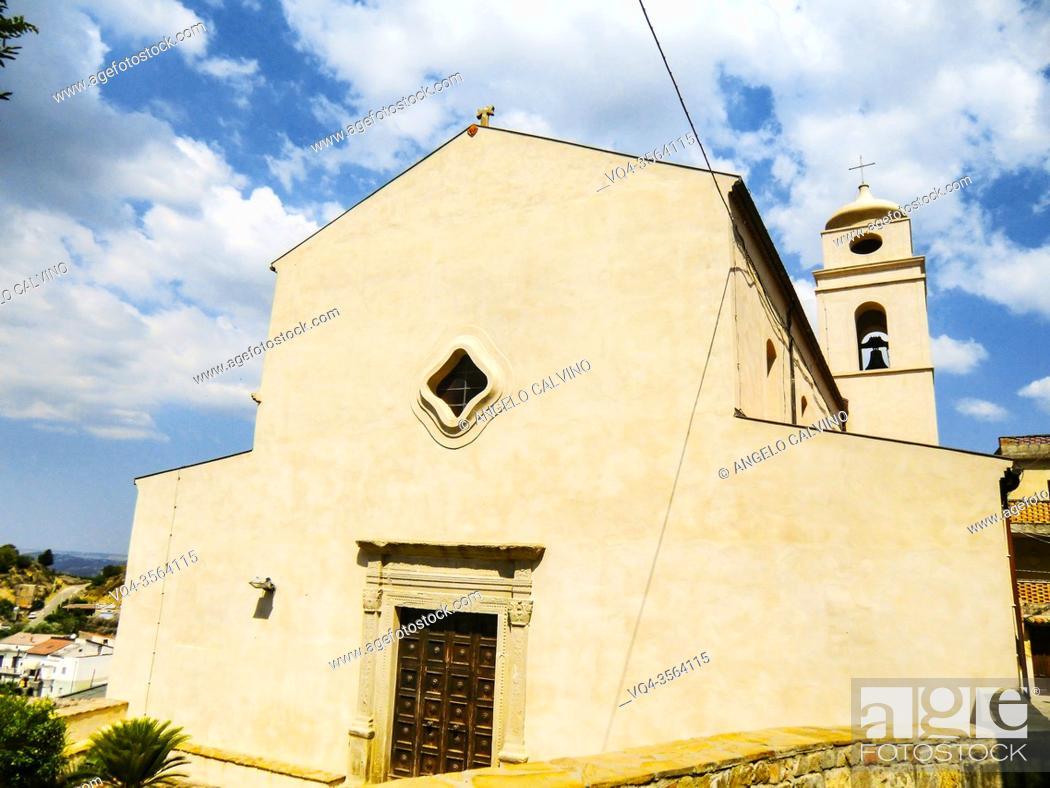 Stock Photo: Tursi, Santa Maria Maggiore Church in Rabatana district, Basilicata, Matera Province, Italy.