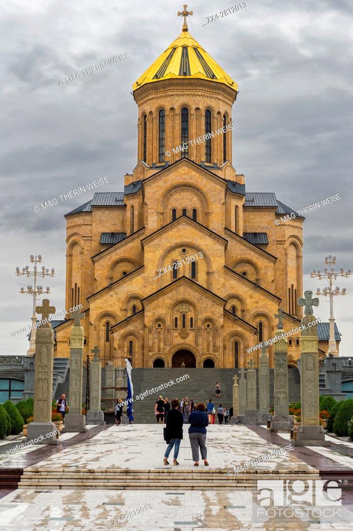 Stock Photo: Holy Trinity Cathedral, Tbilisi, Georgia, Caucasus, Middle East, Asia.