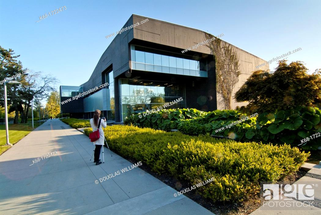 Stock Photo: The library exterior at Langara College in Vancouver, BC, Canada.