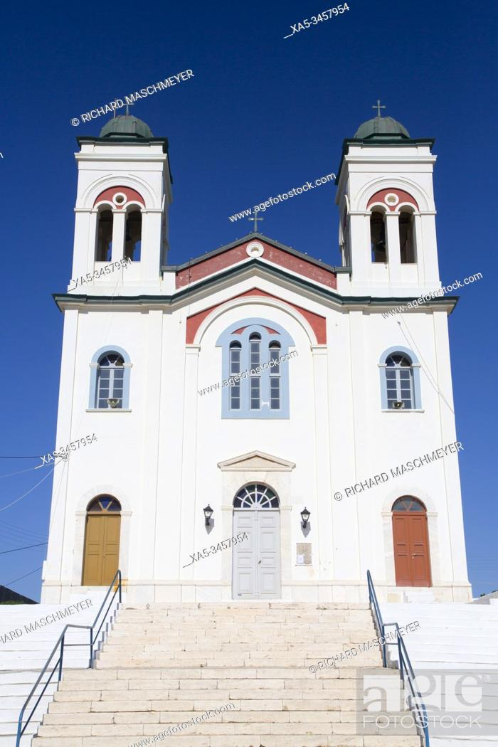 Stock Photo: Church of Naoussa, Naoussa, Paros Island, Cyclades Group, Greece.