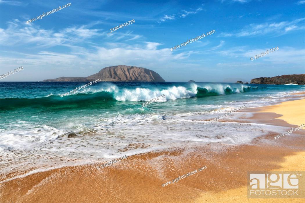 Stock Photo: playa lambra isla canarias.