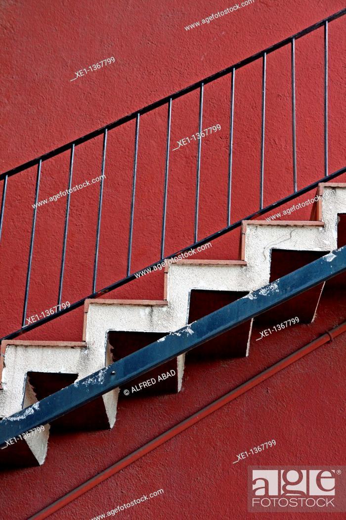 Stock Photo: ladder, Tarragona, Catalonia, Spain.