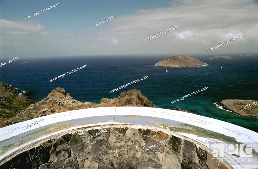 Stock Photo: French Caribbean - Caribbean Islands - Saint Barthelemy - View on Chevreau Islet.