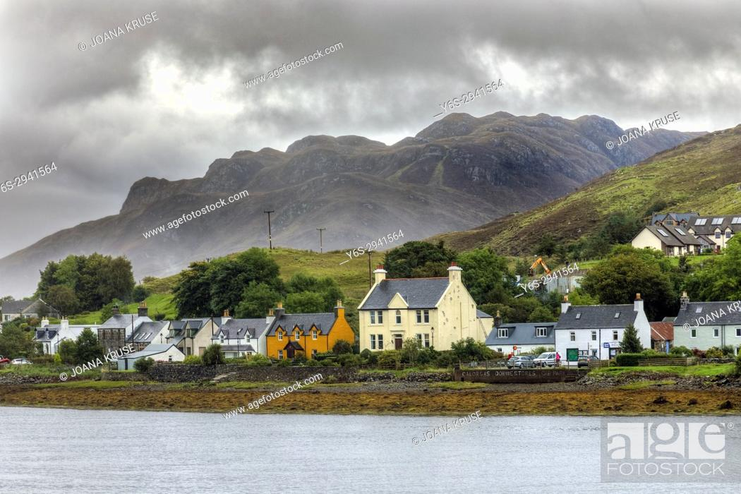 Stock Photo: Dornie, Long Long, Western Highlands, Scotland, United Kingdom.