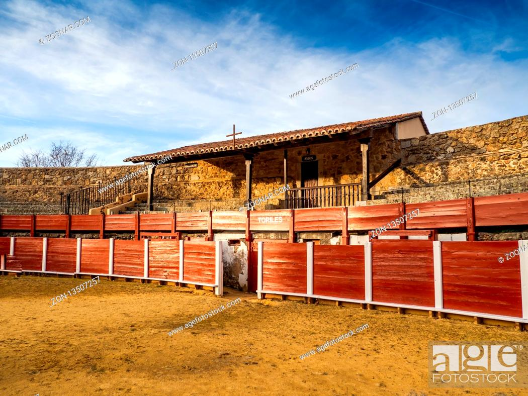 Stock Photo: La Ancianita: Monument of the oldest bullring in the world in Bejar (Salamanca).