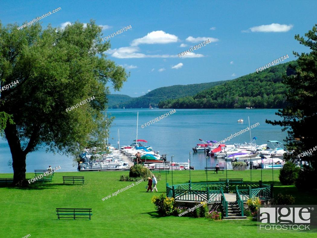 Stock Photo: Cooperstown, NY, New York, Otsego Lake.