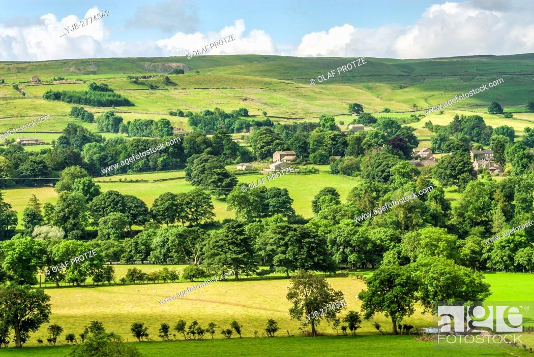 """Stock Photo: The North Pennines is the northernmost part of the so-called """"""""backbone of England"""""""", the range of hills which runs through the centre of the northern half of."""