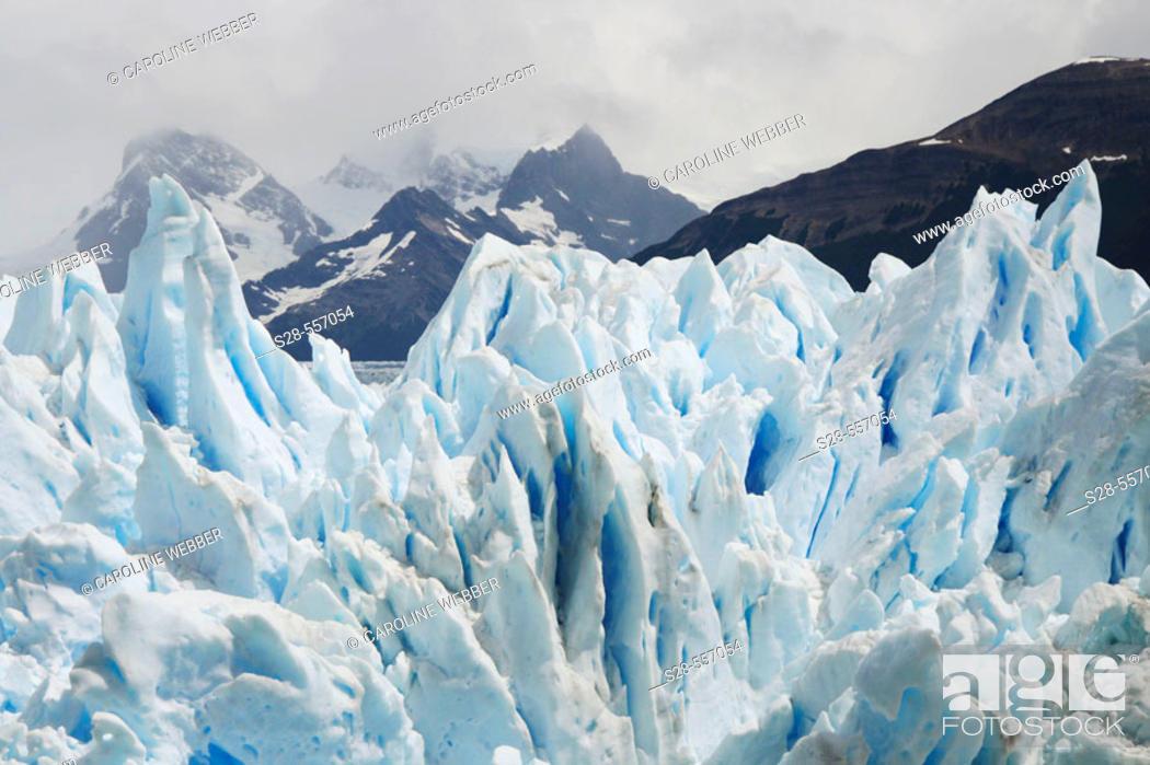 Stock Photo: Moreno Glacier peaks, Argentina.