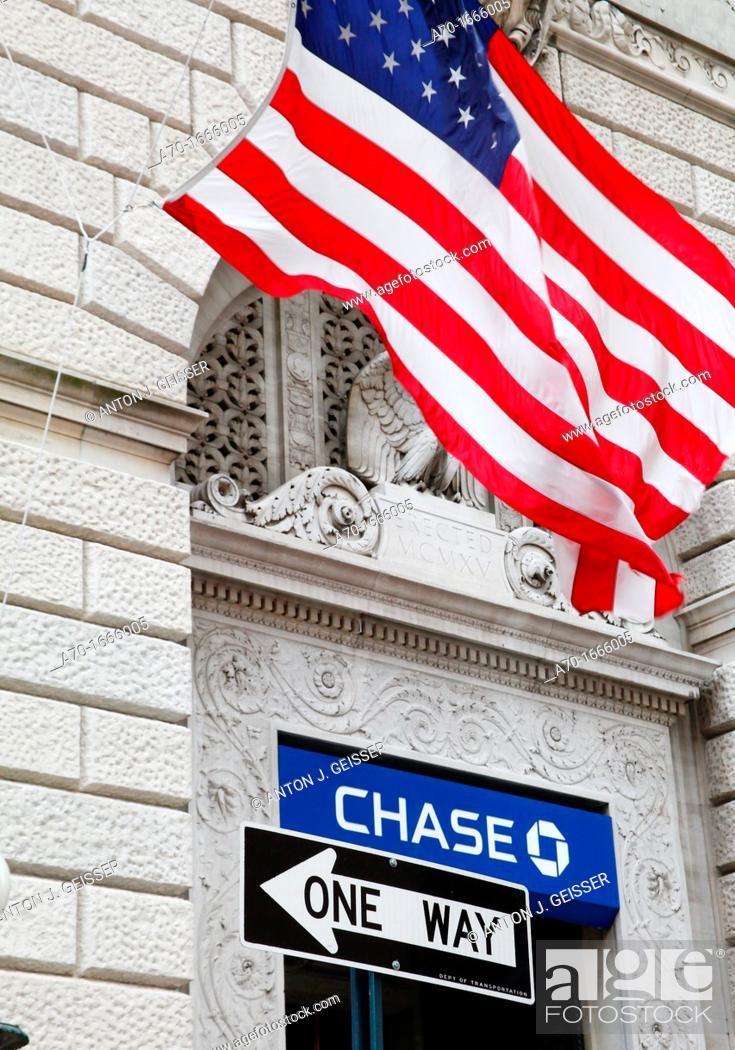 Stock Photo: Chase bank , new york , america.