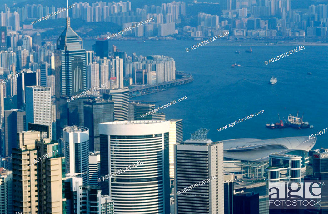 Stock Photo: Overview from Victoria Peak. Hong Kong. China.