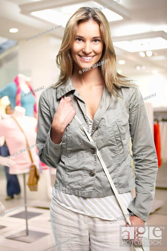 Stock Photo: Woman in mall.