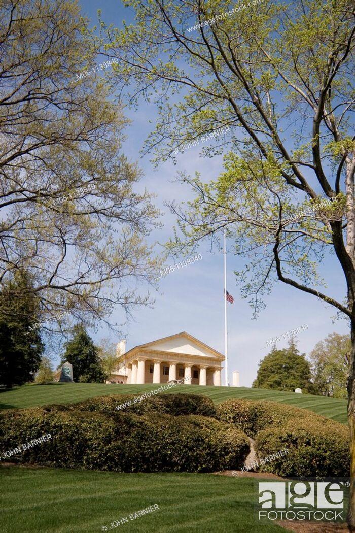 Stock Photo: Lee Mansion at Arlington National Cemetery, Washington, D C.