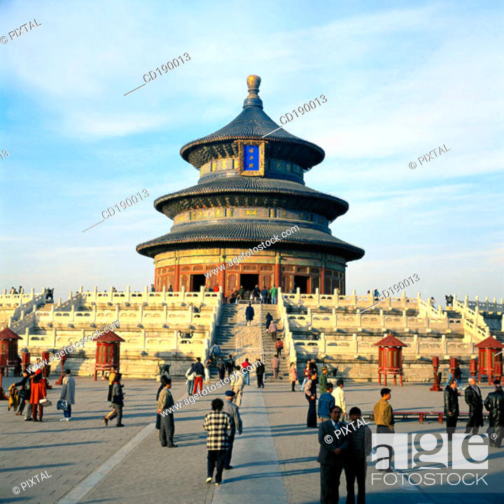 Stock Photo: Hall of Prayer for Harvest. Temple Of Heaven. Beijing. China.