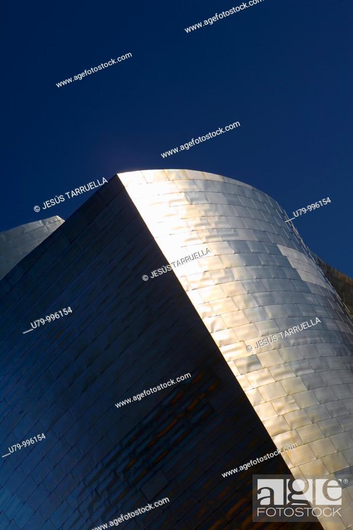 Stock Photo: Guggenheim Museum by Frank O  Gehry  Bilbao  Biscay, Spain.