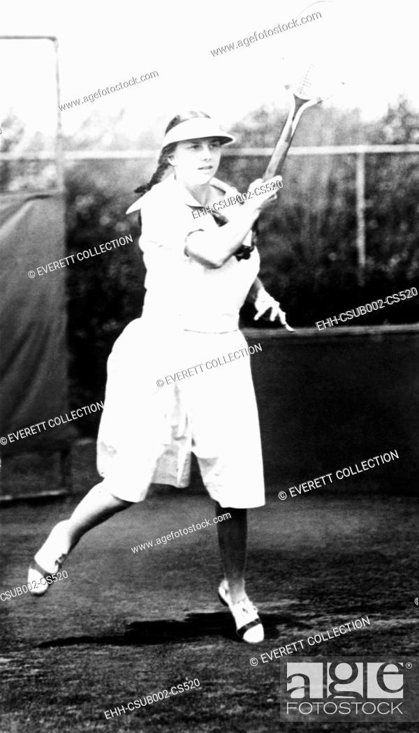 Stock Photo: Helen Wills, champion tennis player in 1921. Wills was the U.S. Girls' Singles champion in 1921 and 1922. (CSU-2015-11-1563).