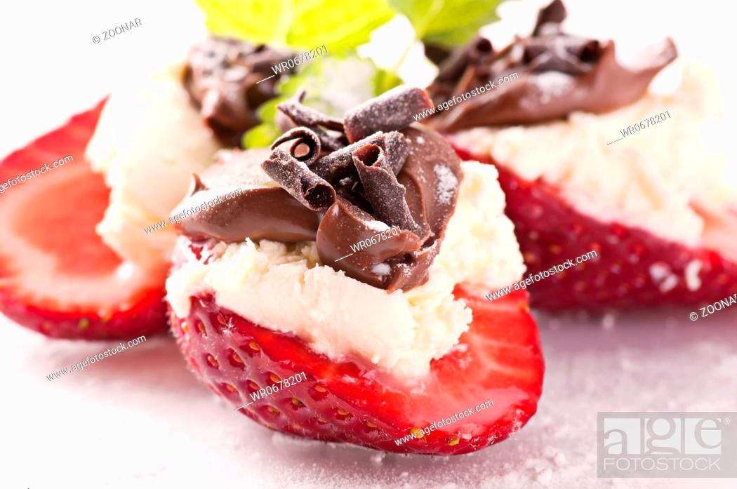 Stock Photo: Strawberry Dessert.