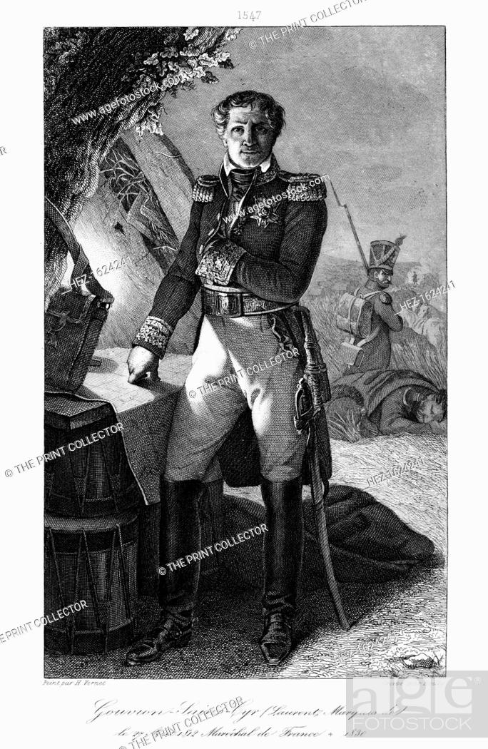 Stock Photo: Laurent Gouvion Saint-Cyr (1764-1830), Marshal of France, 1839. Saint-Cyr was a commander in the French Revolutionary and Napoleonic Wars who rose to Marshal of.