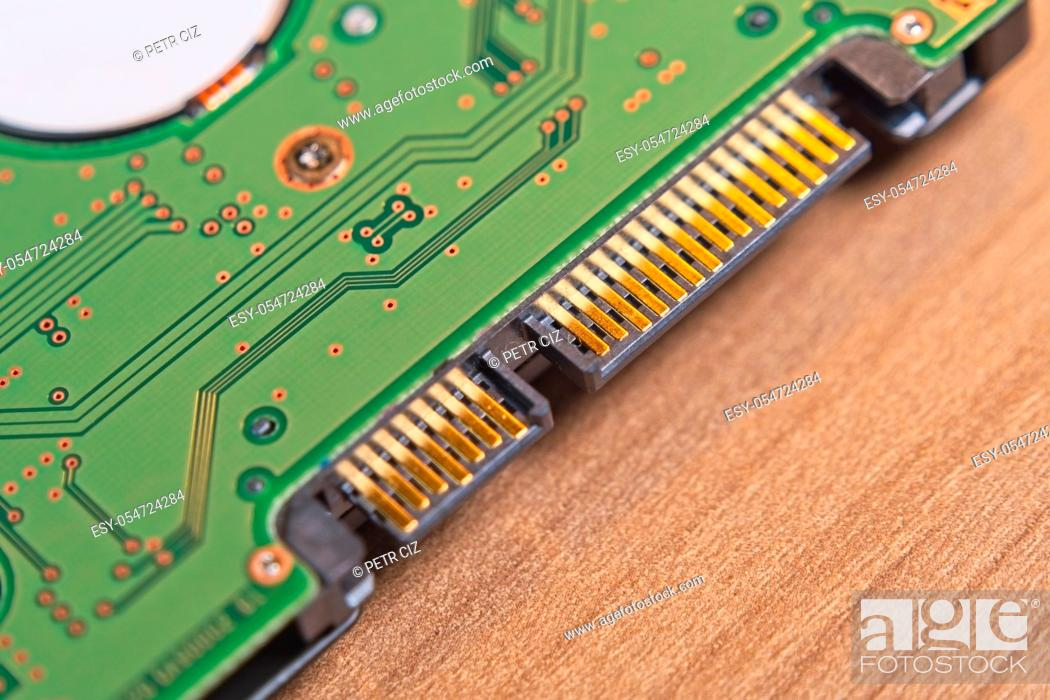 Stock Photo: Solid state drive (SSD), disassembled close-up.