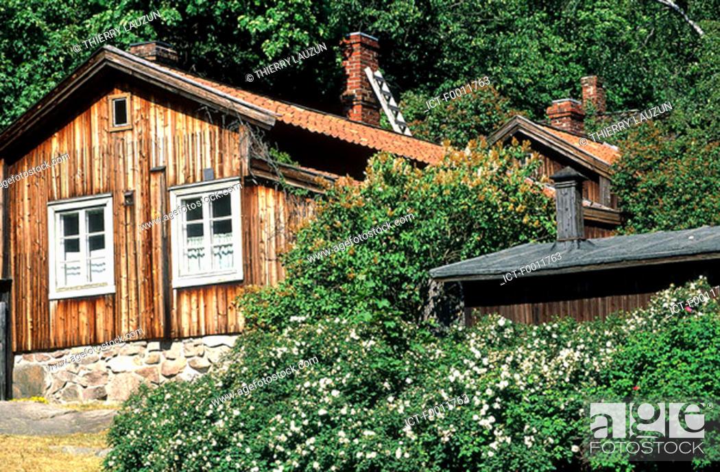 Stock Photo: Finland, Turku, Luostarinmõki open air museum.