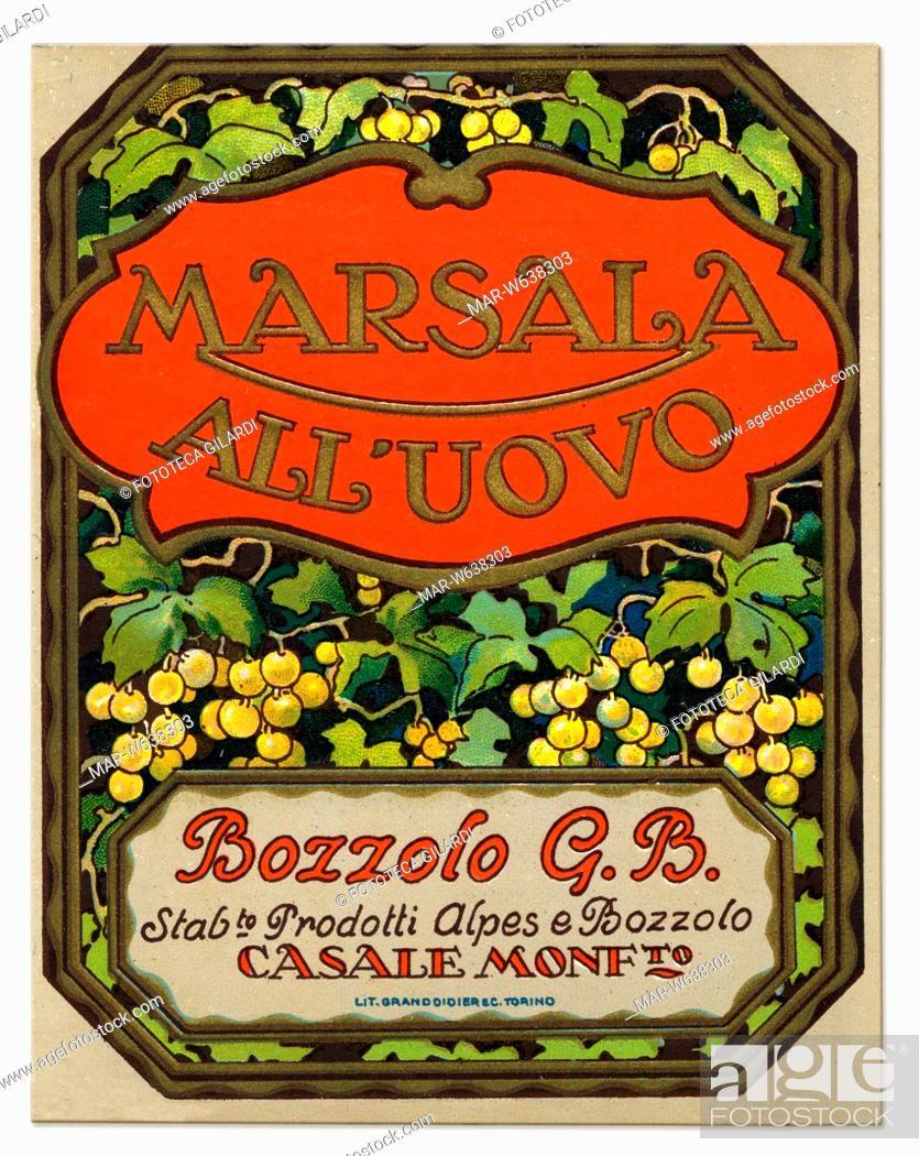 Vino Etichetta Per Marsala All Uovo Prodotto Da Bozzolo G B