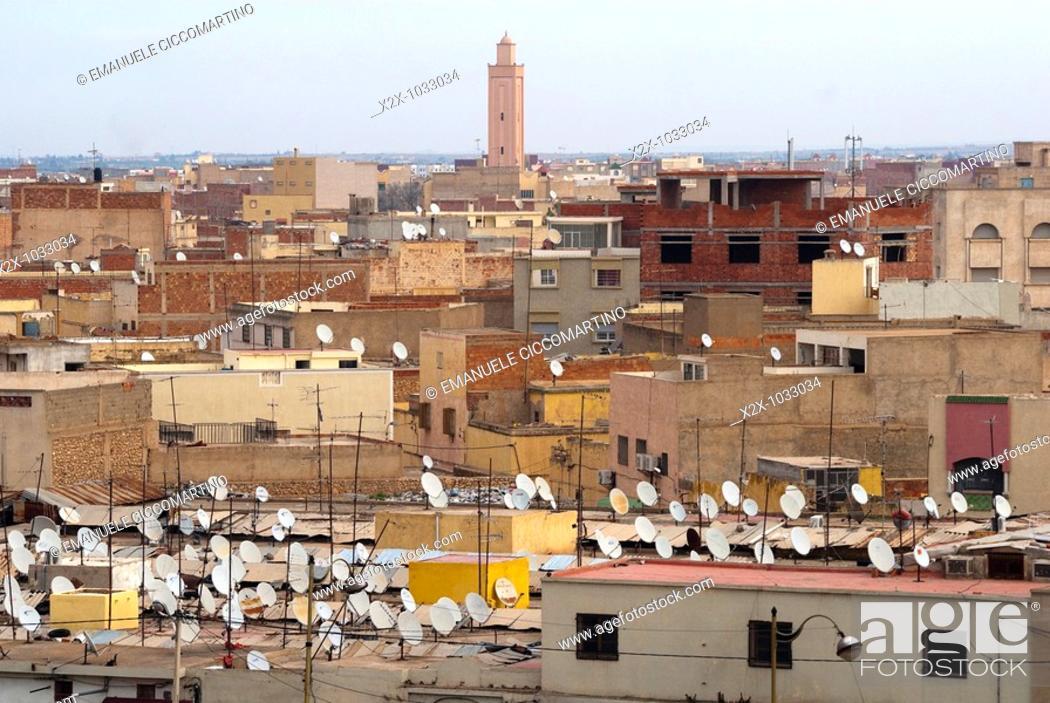 Stock Photo: City view, Oujda, Oriental region, Morocco.