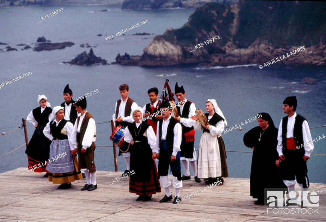 Stock Photo: 'La Regalina', local festival. Luarca. Asturias. Spain.
