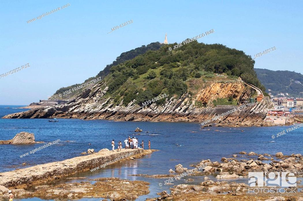 Stock Photo: Santa Clara Island. San Sebastián-Donostia. Guipuzcoa. Euskadi. Spain.