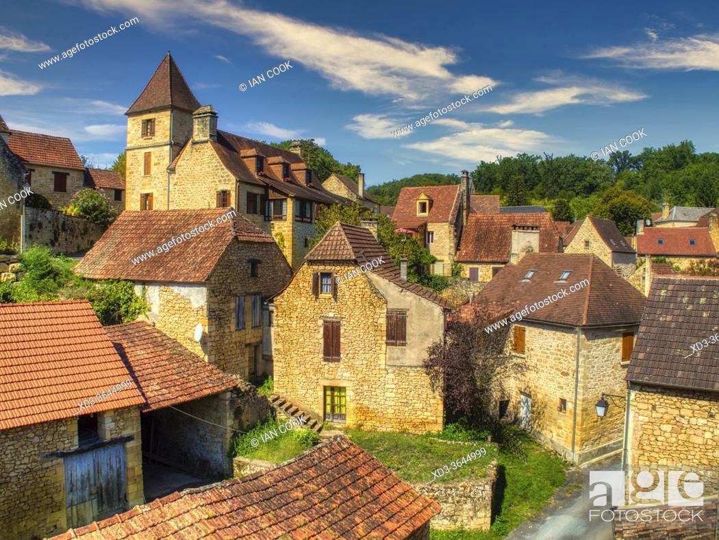 Photo de stock: village of Aillac, Dordogne Department, Nouvelle Aquitaine, France.