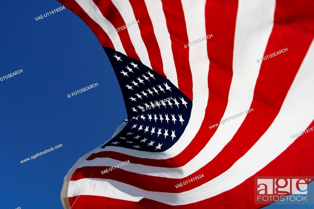 Stock Photo: flag, detail, nationality, shadow, colorful, strips.