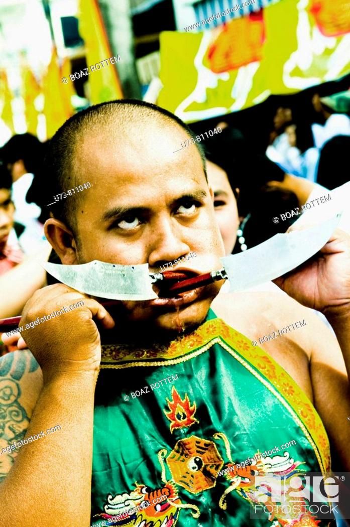 Stock Photo: Sceens of Phuket's Vegetarian festival.