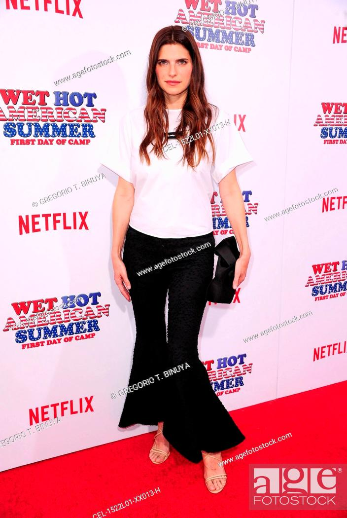 Stock Photo: Lake Bell at arrivals for Netflix's WET HOT AMERICAN SUMMER: FIRST DAY OF CAMP Premiere, The School of Visual Arts (SVA) Theatre, New York, NY July 22, 2015.
