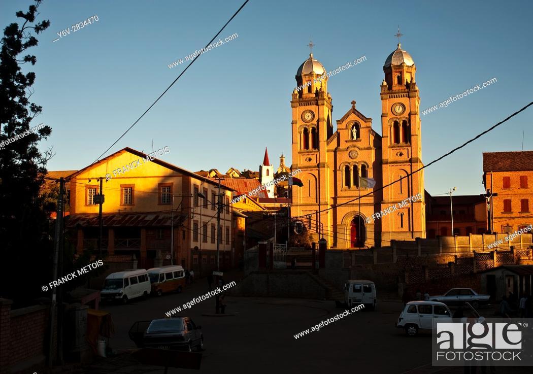 Stock Photo: Ambozantany cathedral at Fianarantsoa upper town ( Madagascar).