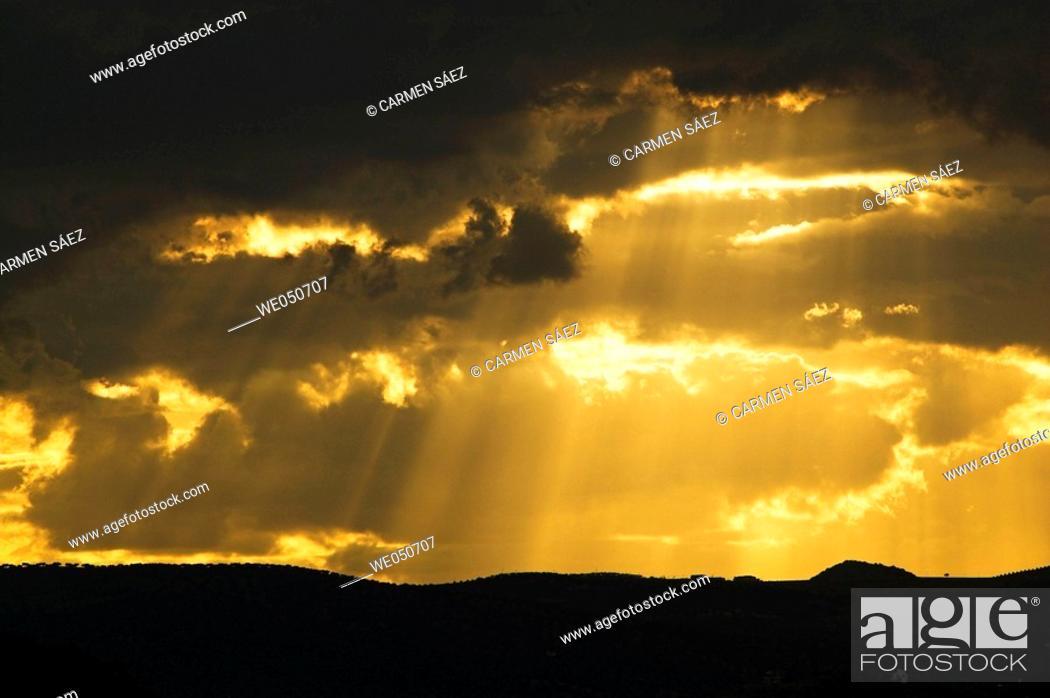 Stock Photo: Evening light, Costa del Sol. Málaga province, Andalusia, Spain.