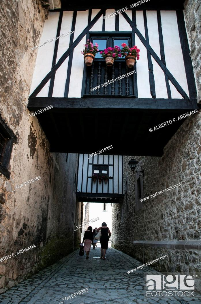 Stock Photo: Image of Old Llanes. These bridges, communicated the various rooms of the villa. Asturias. Spain.