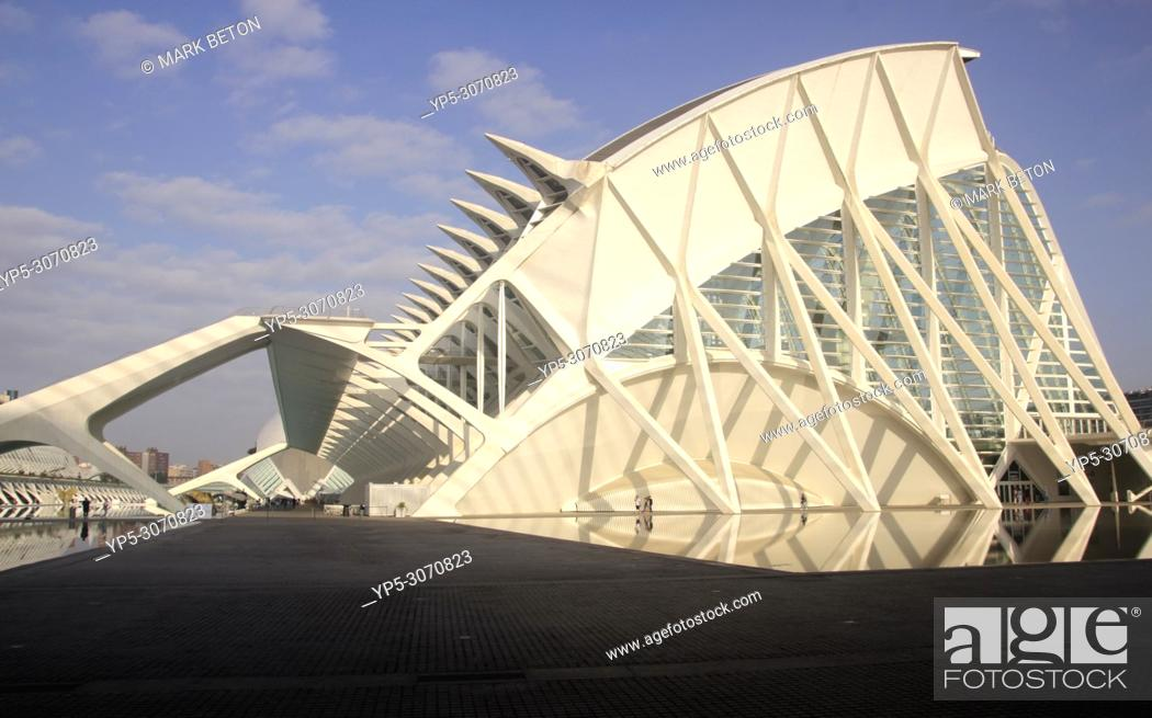 Stock Photo: Science Museum at City of Arts and Sciences, Valencia, Spain.